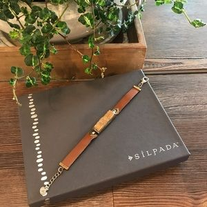 Silpada Druzy Blush & Leather Bracelet NWOT